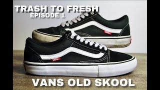 Dreckige Vans Old Skool waschen (ohne Waschmaschine), kleben & restaurieren/Trash To Fresh Episode 1