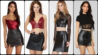 Leather Mini Skirts Dress Ideas For Daily Office Work Girls And Women