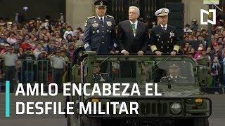 El presidente Andrés Manuel López Obrador encabeza el desfile militar en la plancha del Zócalo de la Ciudad de México   Suscríbete aquí: http://bit.ly/2aXfDay  Síguenos en: Facebook: http://bit.ly/2aEpOvE Twitter: http://bit.ly/2apvcm4 Medium: http://bit.ly/2ay21wz Google+: http://bit.ly/2b6T1Al