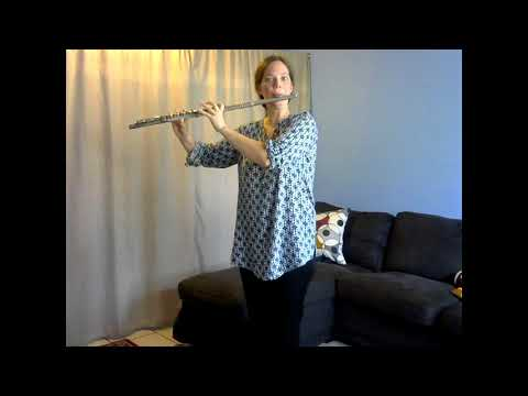 J.S. Bach Minuet number 3 from Suzuki Flute Volume 1.  Play all happy-like! Don't forget to move; it's a dance!