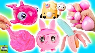 Cutting Open ALL PINK Squishy Toys! Pinkalicious Haul! Doctor Squish