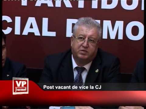 Post vacant de vice la CJ