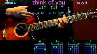 think of you chris young guitar chords