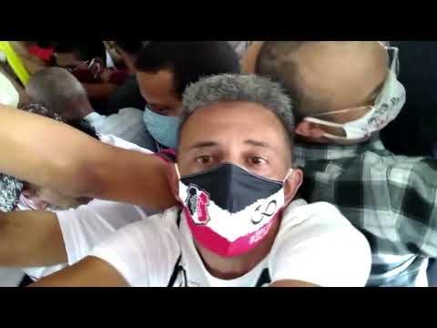 Vídeo mostra aglomeração em ônibus e Grande Recife pede ''apoio dos passageiros''