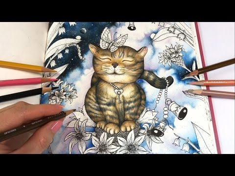 CAT DRAWING WITH COLORED PENCILS | Freedom - Part 2 | Magical Delights Coloring Book