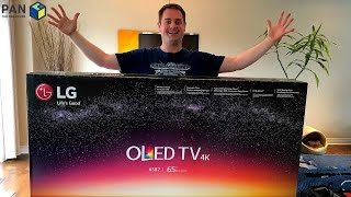 LG B7 4K OLED TV REVIEW, UNBOXING and WALL MOUNTING !!!