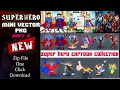 How to Download mini Vector images, Mini cartoon images zip file, Super hero Cartoon Images zip file