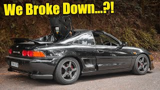 FIRST DRIVE! In my V6 SWAPPED Toyota MR2 *INSANE SOUND* + POV Action