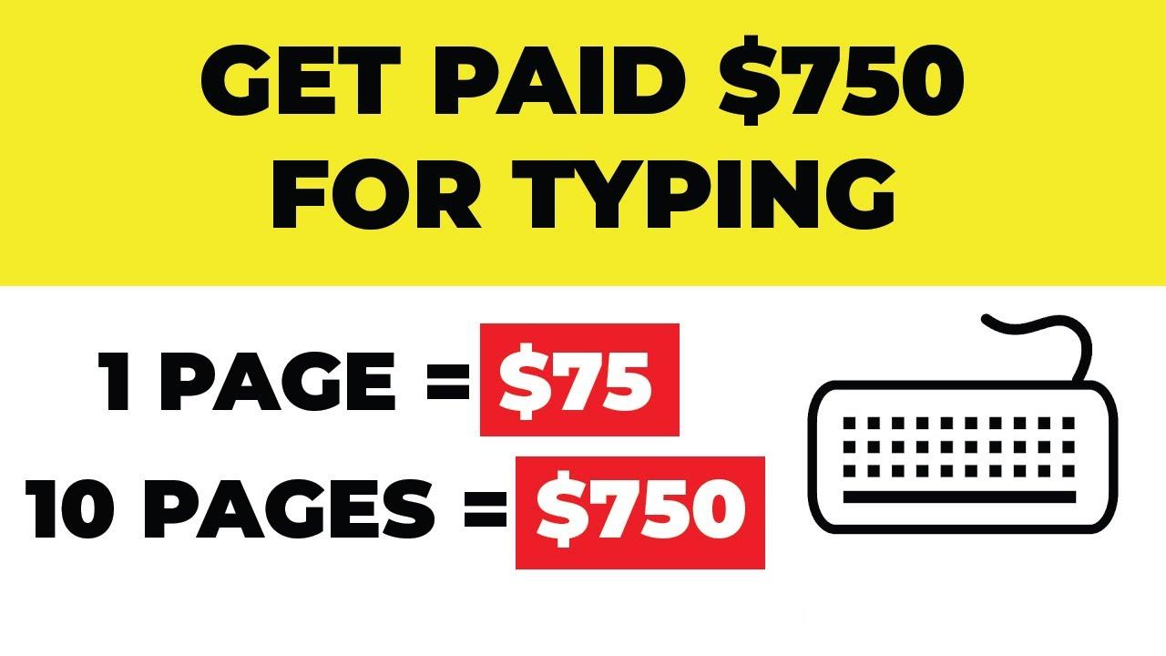 Ryan Hildreth|Make $750 For Typing Words * Best Typing Jobs * (Make Money Online) thumbnail