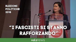 """Boldrini: """"I fascisti si stanno insinuando nelle istituzioni"""""""