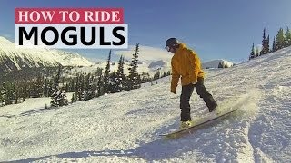 #28 Snowboard intermediate – How to turn in moguls