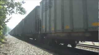 preview picture of video 'Norfolk Southern Westbound Empty Coal Train - Christiansburg VA 7-7-12'