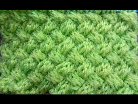 Punto Stuoia Doppia ai ferri - Double Wicker Knitting Stitch (EN SUB)