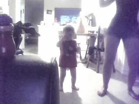 Little brother dancing to smack that