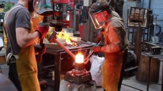 forging a viking style anvil with James Austin