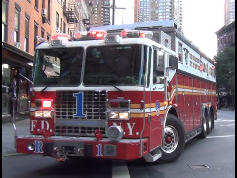 FDNY Rescue 1 Responding, Massive Air Horn And Q Mp3