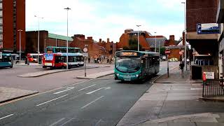 preview picture of video 'Buses departing Chester Bus Exchange'