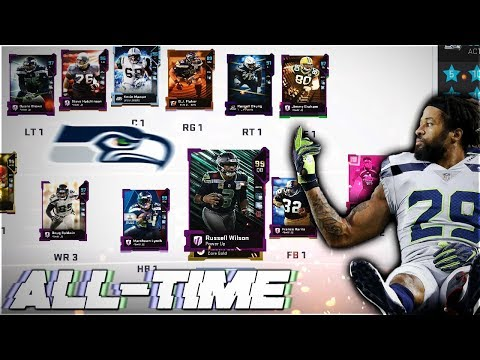 THE ALL-TIME SEATTLE SEAHAWKS THEMED TEAM! Madden 19 Ultimate Team