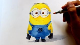 Wie zeichnet man Minions in 3D Optik [Ich einfach unverbesserlich] zeichen tutorial