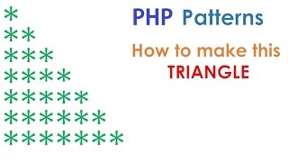 PHP For Beginners: Printing a pyramid pattern using nested FOR loops