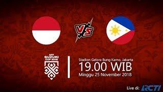 Live Streaming RCTI Piala AFF 2018, Indonesia vs Filipina, Minggu Pukul 19.00 WIB