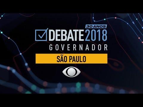 O primeiro debate entre os candidatos a governador do Estado de São Paulo