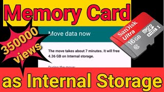 Using SD card as internal storage : Easy Steps, no root needed.