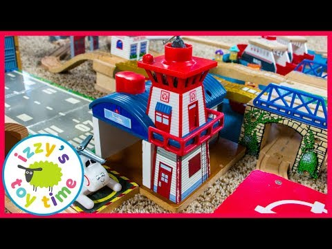 Thomas and Friends Harold's Helipad! Fun Toy Trains for Kids