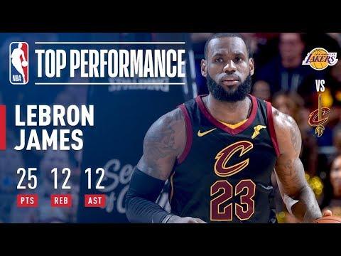 Lebron James ELECTRIC Perfromance vs. The Lakers