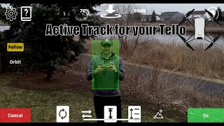 Upgrade your Tello with Follow me and Active track. - The Tellome App