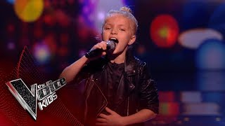 Lilia Performs 'Flashlight': Blinds 1 | The Voice Kids UK 2018