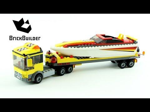 Vidéo LEGO City 4643 : Le transport du bateau à moteur