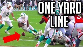NFL Turnovers On The One Yard Line || HD