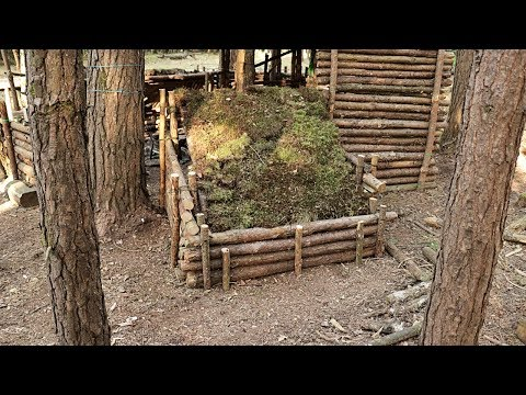 Build A Bushcraft Dog House In The Forest Camp - Part 2