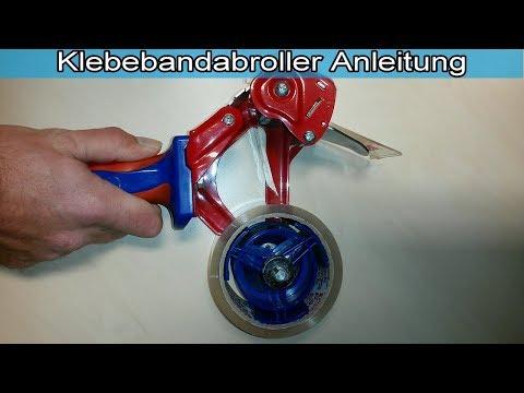 Tesa Kleberoller einfädeln Abroller Klebebandroller Handabroller für Klebeband benutzen Anleitung