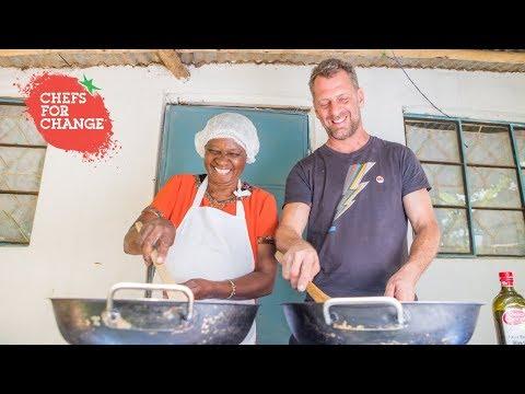 Luke Dale-Roberts visits Farm Africa fish farming project in Kenya