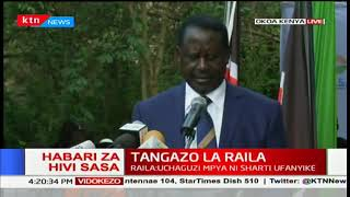 Raila Odinga announces the establishment of a people's assembly to restore democracy