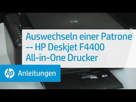 Auswechseln einer Patrone -- HP Deskjet F4400 All-in-One Drucker