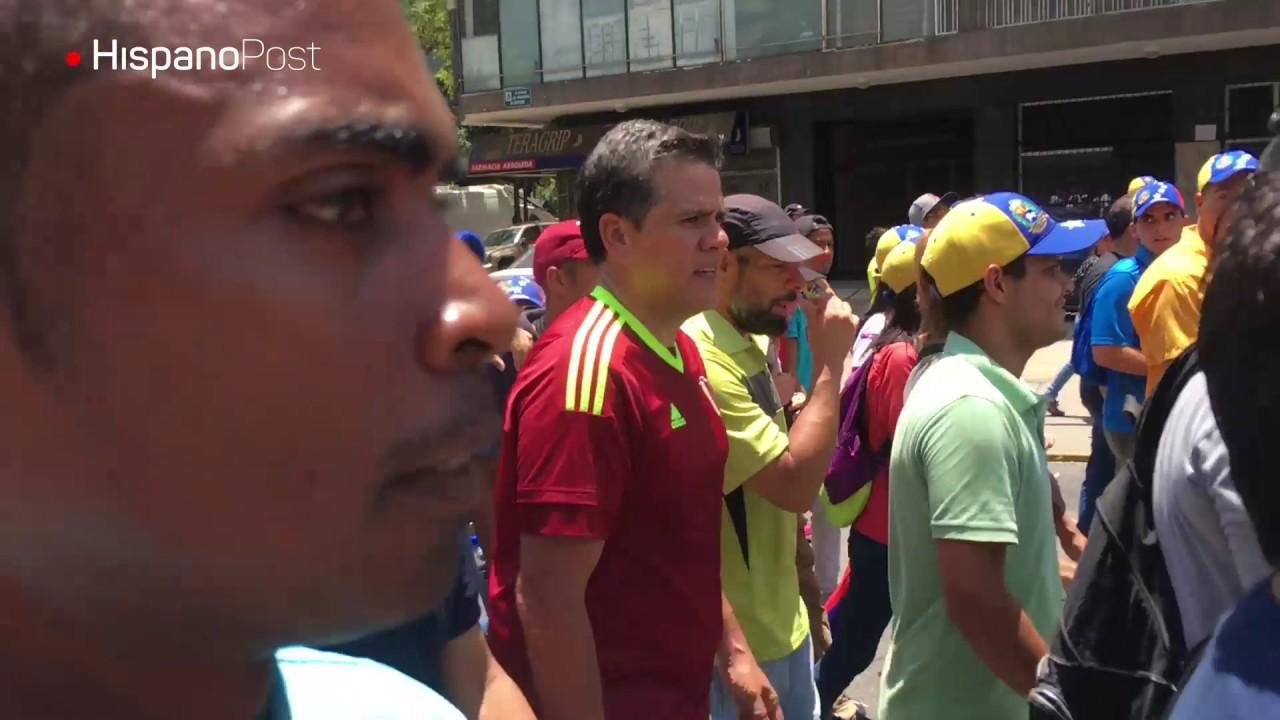 Motorizados armados persiguieron a manifestantes este sábado en Caracas