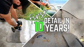 Deep Cleaning 10 Years Of Neglect! Complete Dirty Car Detailing Transformation