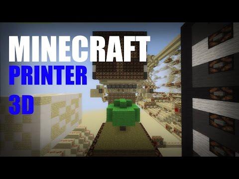 Minecraft Redstone 3d Printer Minecraft Project
