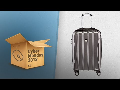Delsey Helium Aero, Carry On Luggage, Hard Case Spinner Suitcase / Now On Cyber Monday 2018!