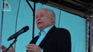 Kaczyński w Dygowie: Nakarmiłem głodne dzieci.