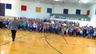 Dogwood Elementary's Kansas City Royal's pep assembly