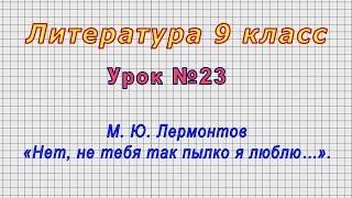 Литература 9 класс Урок 23