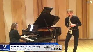 AUGUSTAS VASILAUSKAS plays Sonata by P. Creston #adolphesax