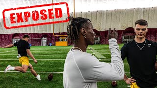A FAN PULLED UP TO THE FIELD AND TRIED TO EXPOSE ME! (KICKING COMP FOR $1000)