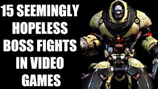 15 Seemingly Hopeless Boss Fights In Video Games