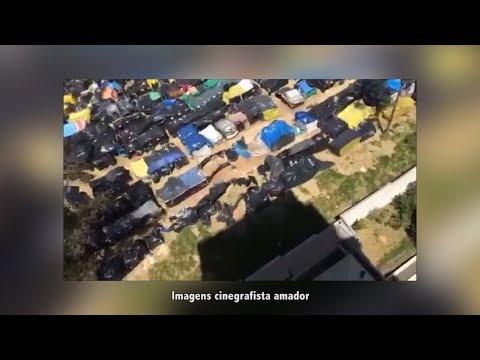 Cinegrafista amador flagra barracas vazias em invasão de terreno em São Bernardo