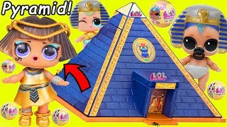 Pharaoh Babe Unicorn LOL Surprise Dolls Playmobil Pyramid for Lil Punk Boi Sisters Wedding JOJO SIWA